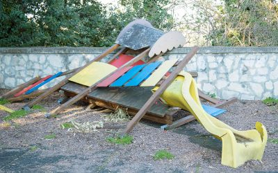 Here's how to quickly and safely get rid of a playground after your kids have outgrown it